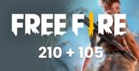 [TR] Free Fire 210+105 Elmas (İlk Yüklemede 420)