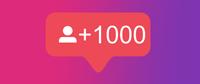 İnstagram 1000 Takipçi