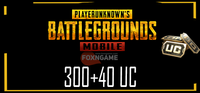 300+40 UC PUBG Mobile Unknown Cash