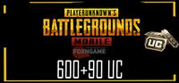 600+90 UC PUBG Mobile Unknown Cash