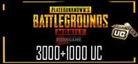 3000+1000 UC PUBG Mobile Unknown Cash