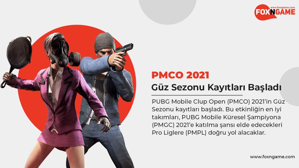 PUBG Mobile Clup Open (PMCO) 2021 Güz Sezonu Kayıtları Başladı