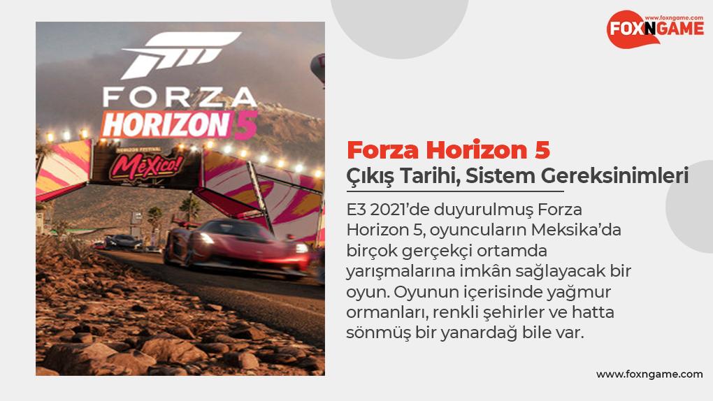 Forza Horizon 5: Çıkış Tarihi ve Sistem Gereksinimleri