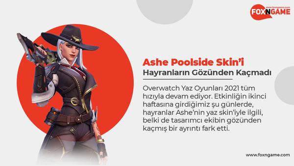 Overwatch Ashe Poolside Skin'i Hayranların Gözünden Kaçmadı