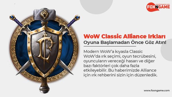 WoW Classic Alliance Irkları: Oyuna Başlamadan Önce Göz Atın!