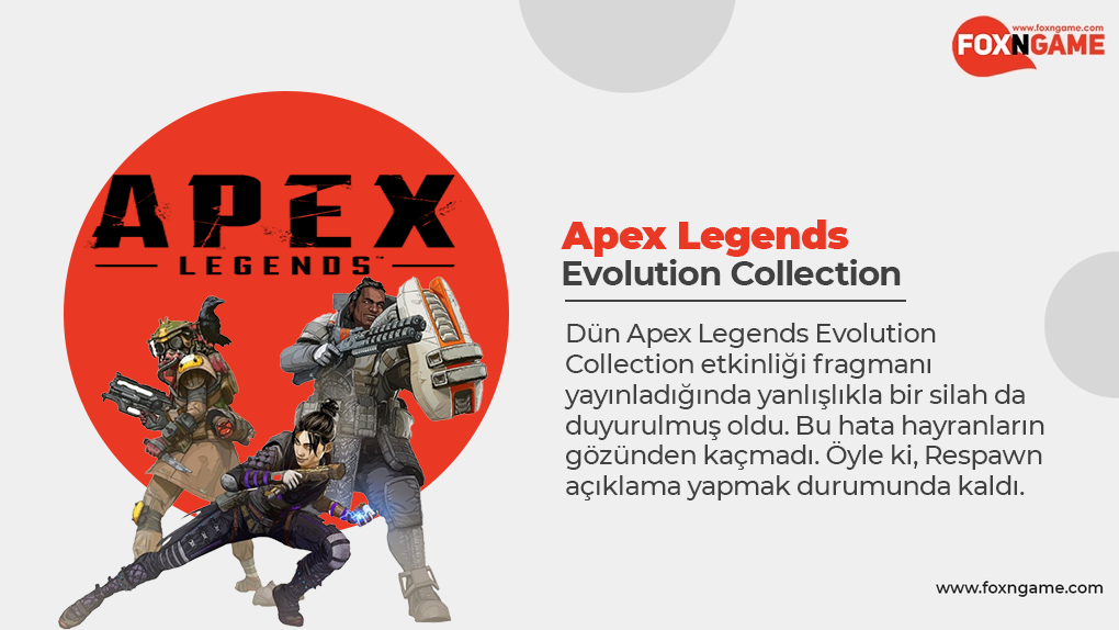 Evolution Collection'da Yanlışlıkla Duyurulan Yeni Apex Legends Silahı!