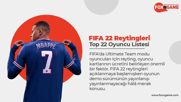 FIFA 22 Reytingleri, Top 22 Oyuncu Listesi