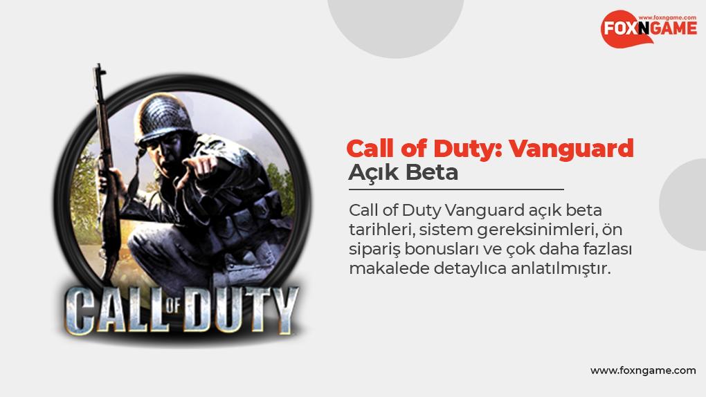 Call of Duty Vanguard Açık Beta Tarihleri