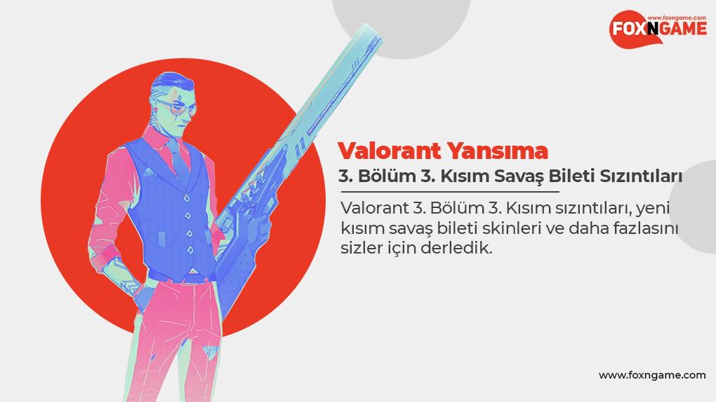 Valorant 3. Bölüm 3. Kısım Savaş Bileti Sızıntıları!