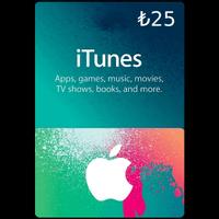 Apple Store iTunes Hediye Kartı 25TL