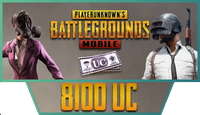 8100 PUBG Mobile UC
