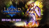 3000+300 Legend Online Elmas